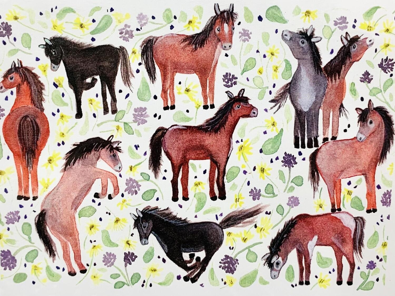 Horses Card - Sarah Duggan