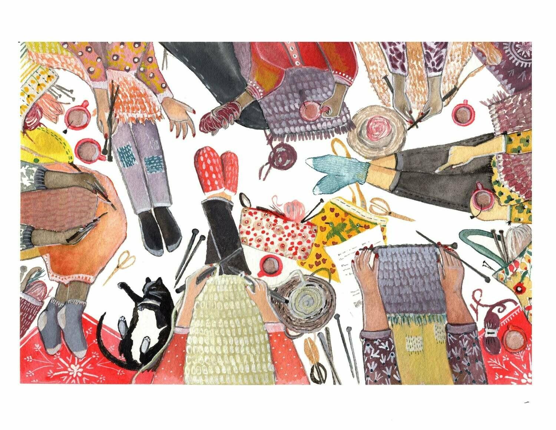 Women Who Make, Knitting Card - Sarah Duggan