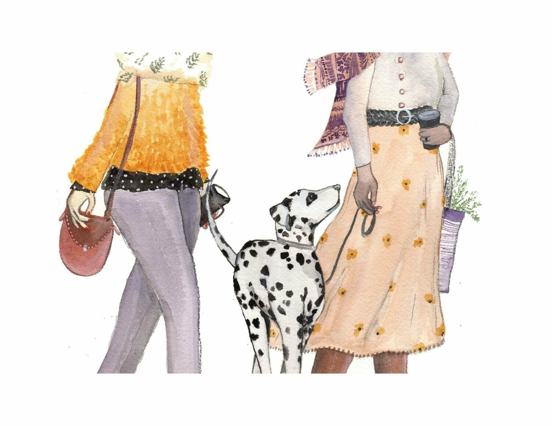Friends Who Stroll Card - Sarah Duggan