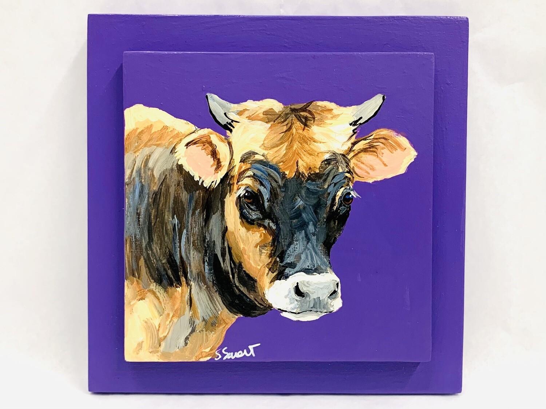 Calf on Purple