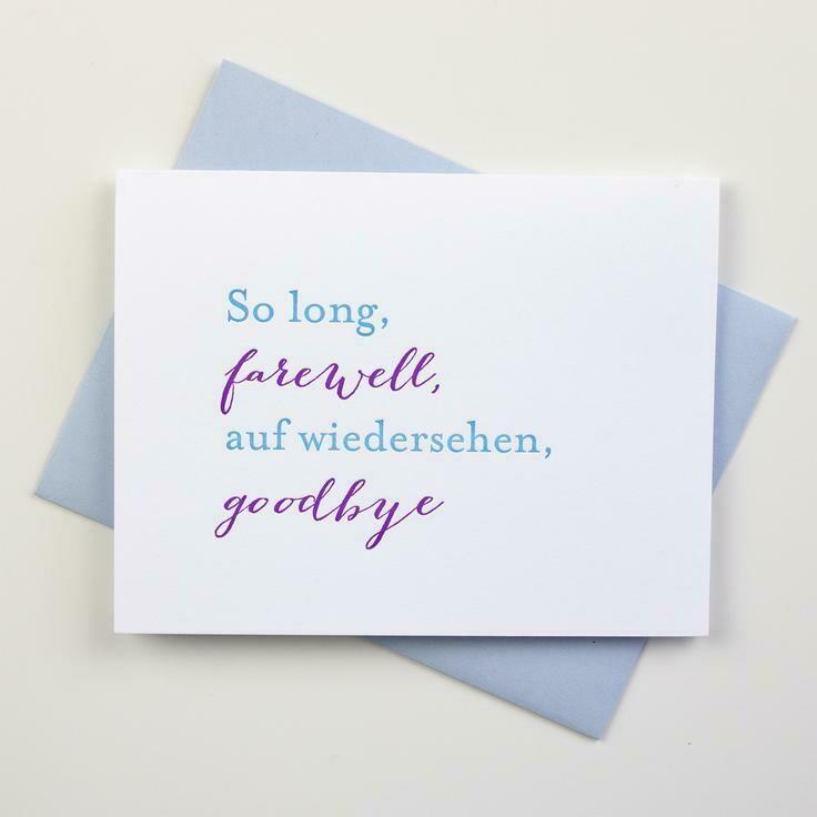 Farewell Card - Inkwell Originals