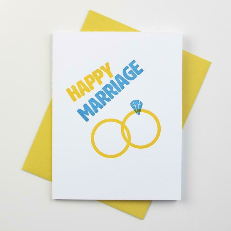 Happy Marriage Card - Inkwell Originals