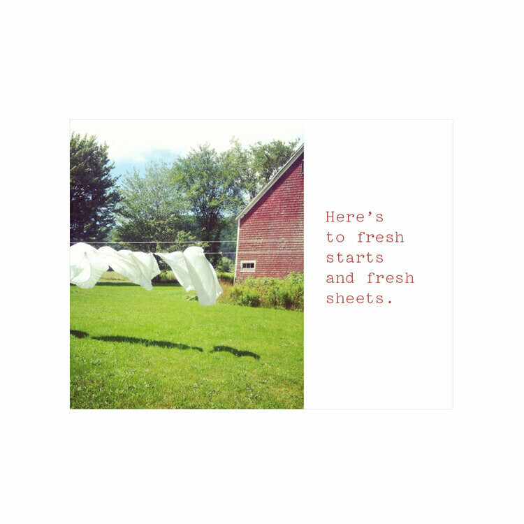 Fresh Starts, Fresh Sheets Card - Miss Brenna