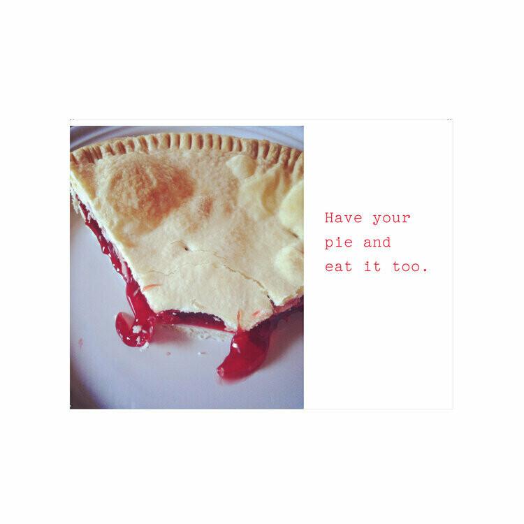 Cherry Pie Card - Miss Brenna