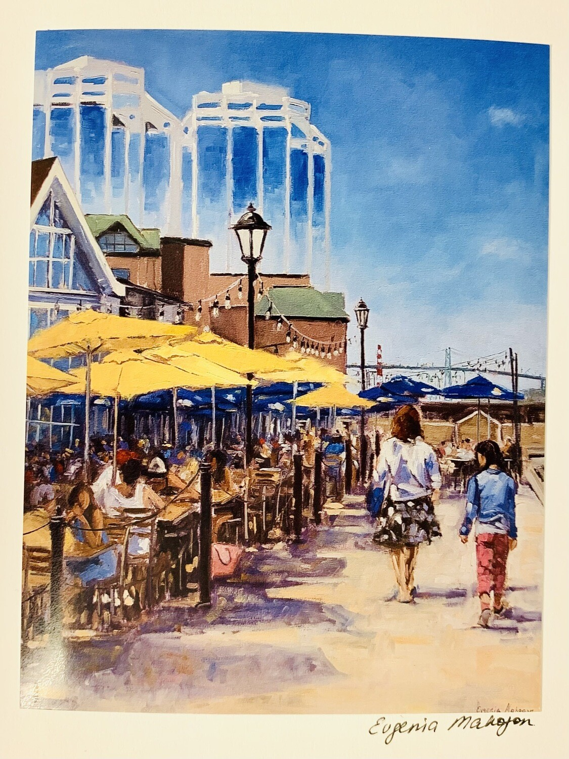 Halifax Waterfront Patios Card - Evgenia Makogon