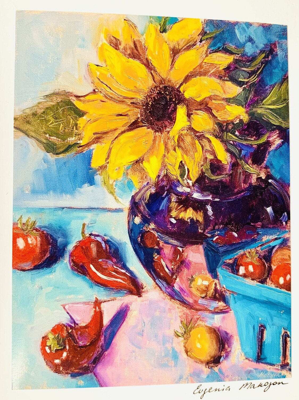 Peppers & Flowers Card - Evgenia Makogon