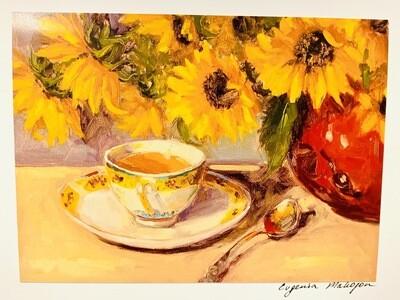 Tea & Flowers Card - Evgenia Makogon