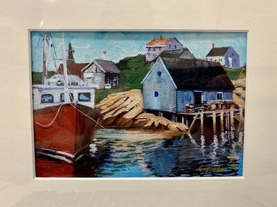 Harbour Mist in Peggy's Cove - Evgenia Makogon