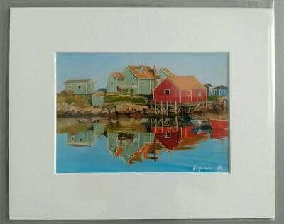 Peggy's Cove Greens and Red - Evgenia Makogon