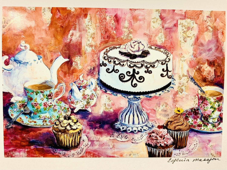 Tea & Sweets Card - Evgenia Makogon