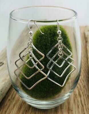 Square Multi Drop Earrings - Shy Giraffe