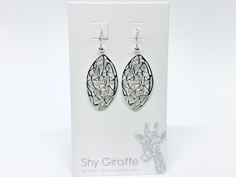 Oval Wirework Earrings - Shy Giraffe