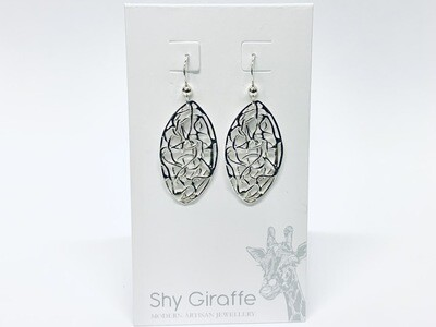 Oval Wirework Earrings - Shy Giraffe