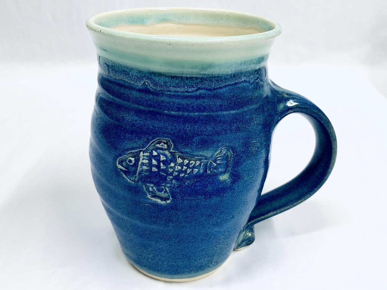 Blue Fish Mug, Tall