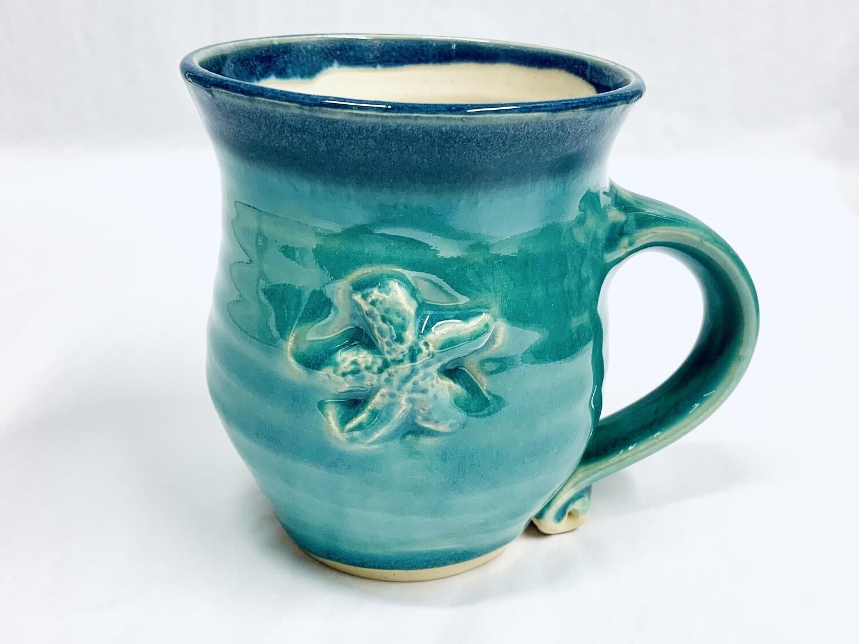 Seafoam Starfish Mug, Tall