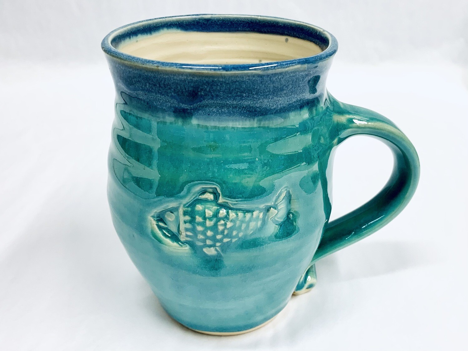 Seafoam Fish Mug, Tall