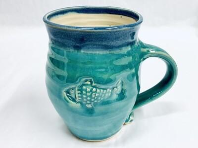 Seafoam Fish Mug, Tall