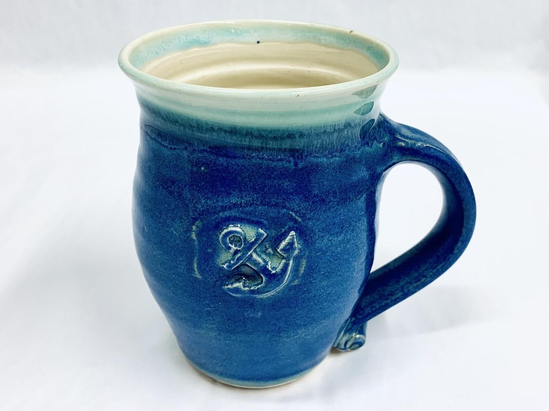 Blue Anchor Mug, Tall