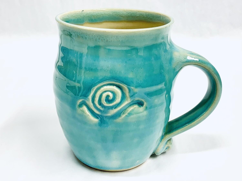 Seafoam Snail Mug, Tall