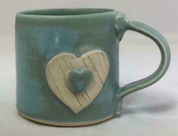 Aqua Heart Mug GA