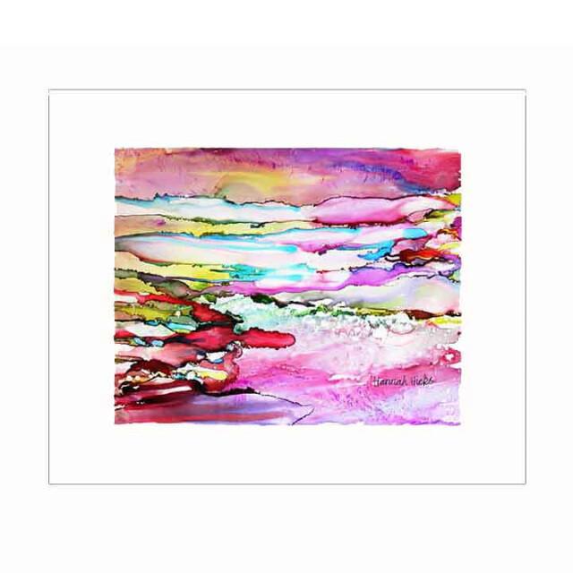 Sunset Over the Sea Print - Hannah Hicks