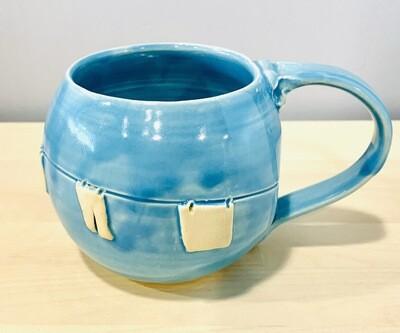 Sky Blue Clothesline Mug GA