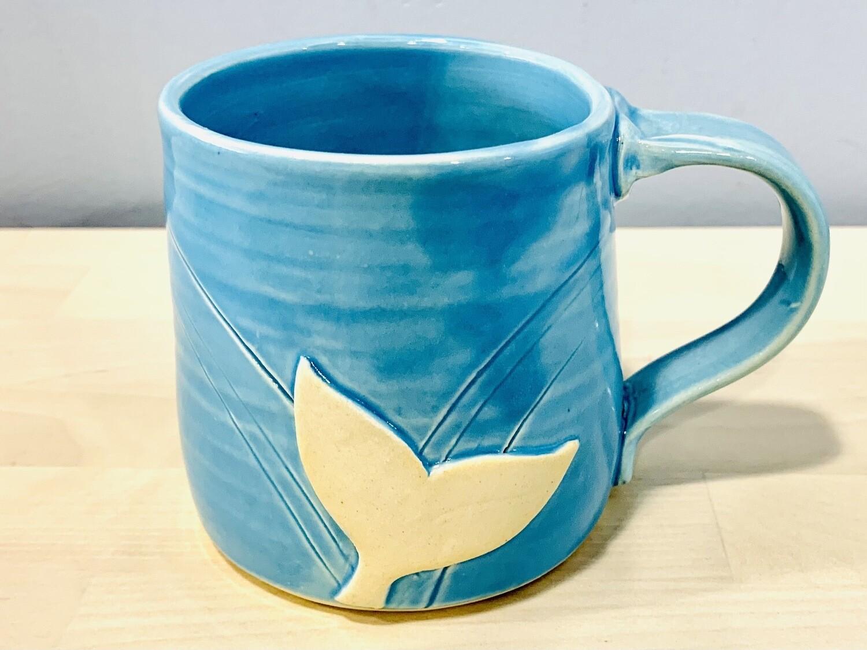 Sky Blue Whale Tail Mug GA