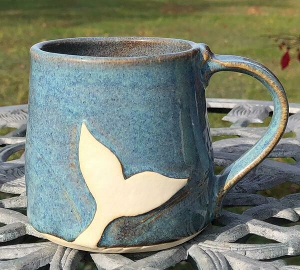 Denim Whale Tail Mug GA