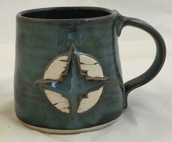 Denim Compass Rose Mug GA