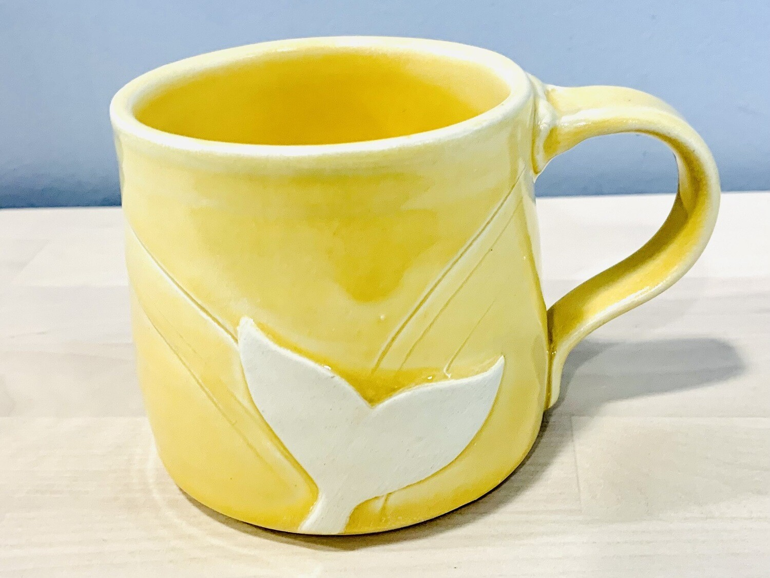 Yellow Whale Tail Mug GA