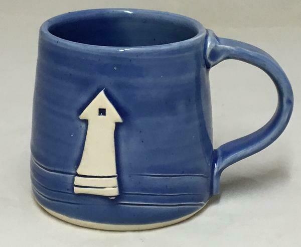 Dark Blue Lighthouse Mug GA