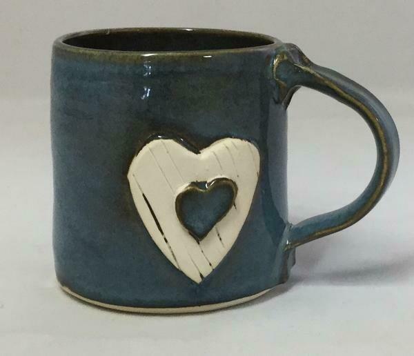 Denim Heart Mug GA