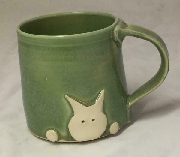 Green Cat Mug GA