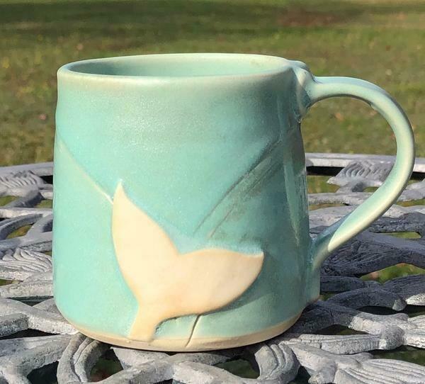 Aqua Whale Tail Mug GA