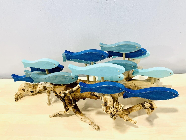 Blue & Aqua 17 Fish School - Jerry Walsh