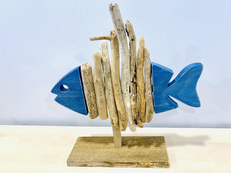 Dark Blue Skeleton Fish - Jerry Walsh