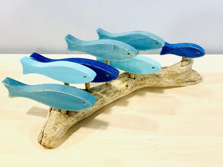 Aqua & Blue 7 Fish School - Jerry Walsh