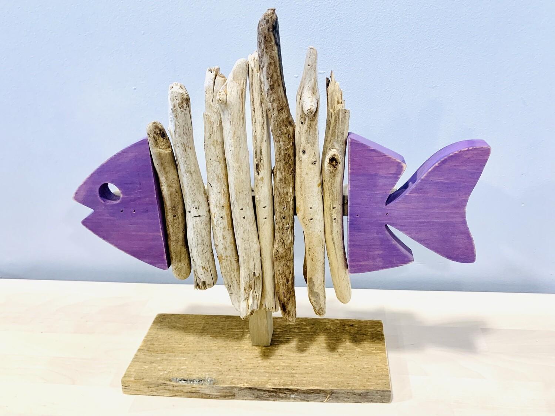 Purple Skeleton Fish - Jerry Walsh