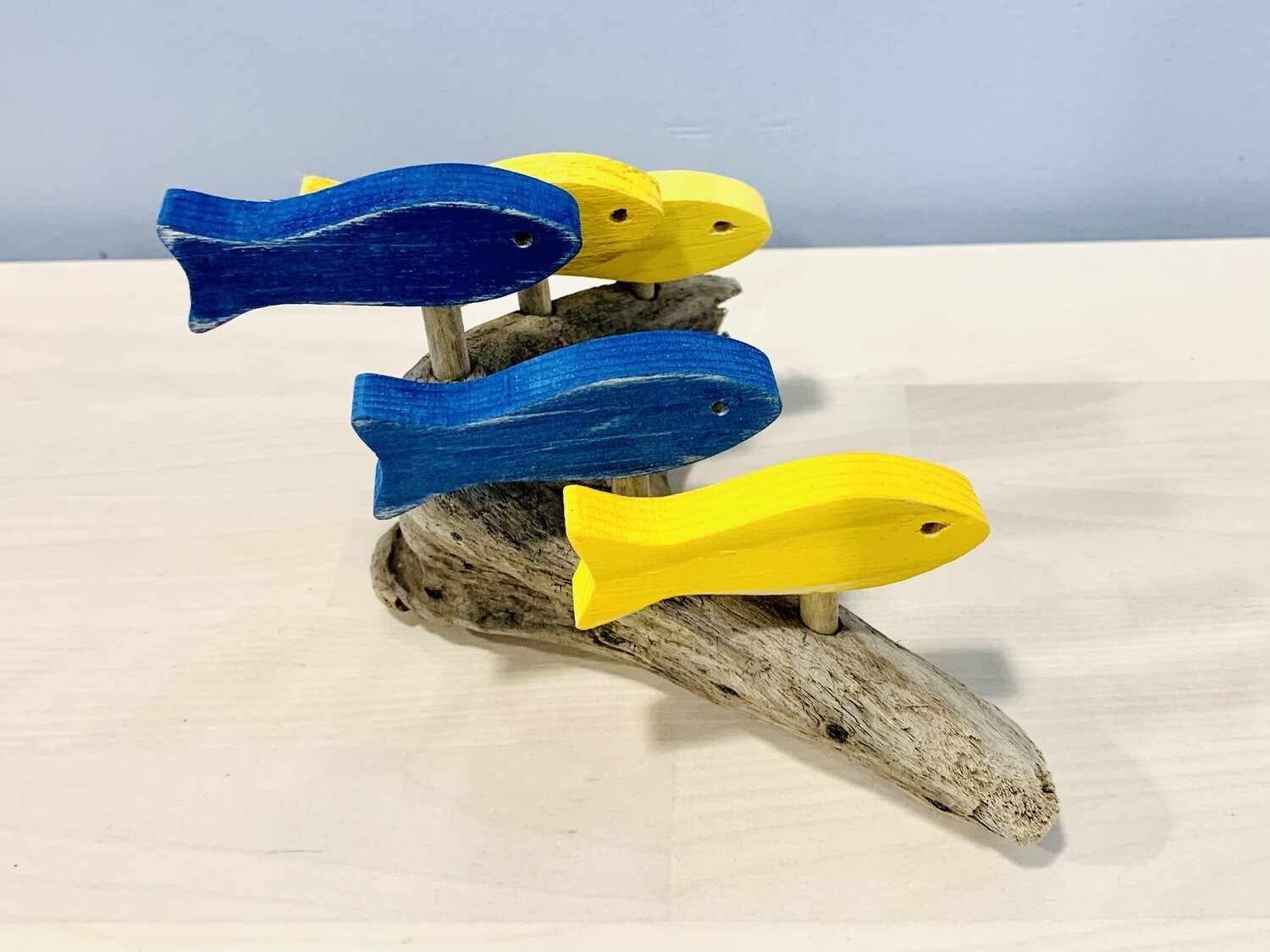 Yellow & Blue 5 Fish School - Jerry Walsh