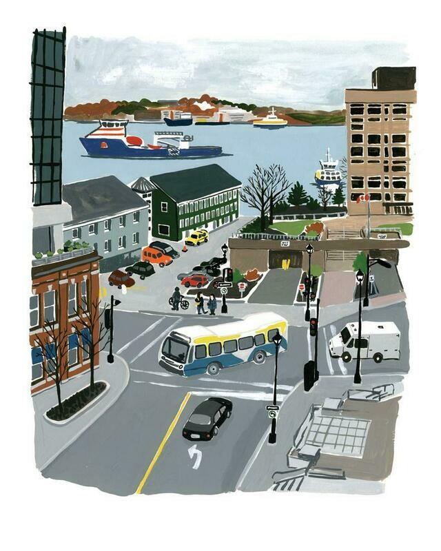 Kat Frick Miller Print - Halifax Harbour