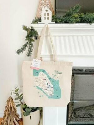 Halifax Map Tote Bag