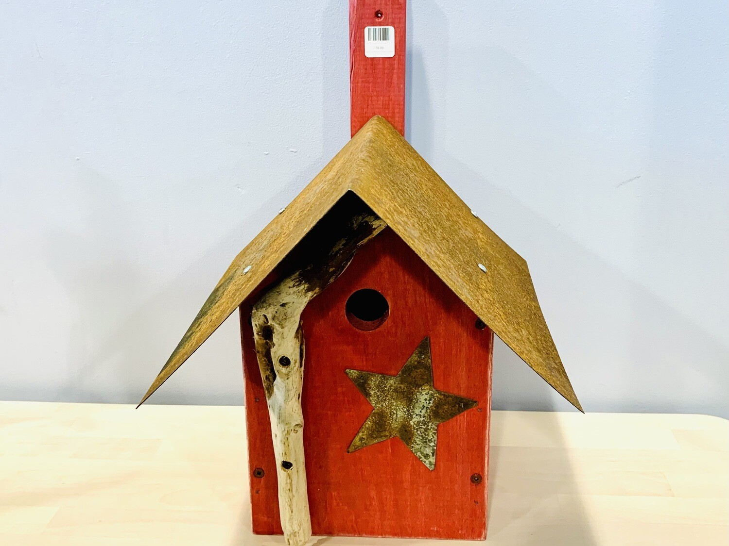 Red Bird House with Star - Jerry Walsh