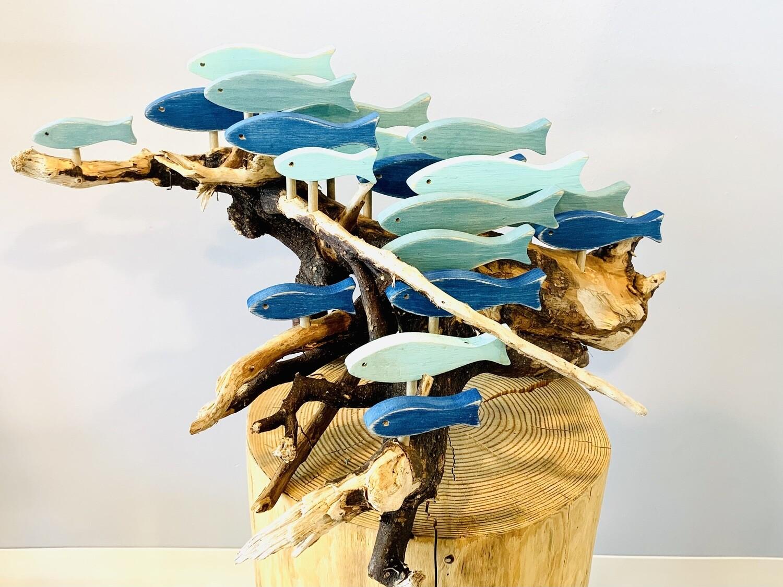Blue & Aqua 19 Fish School - Jerry Walsh