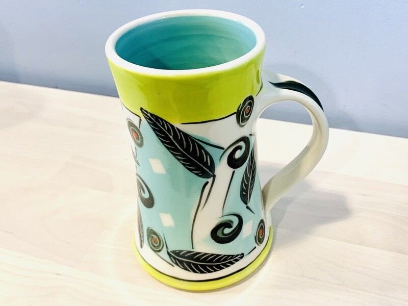 Lime Mug, Teal Inside - Keffer