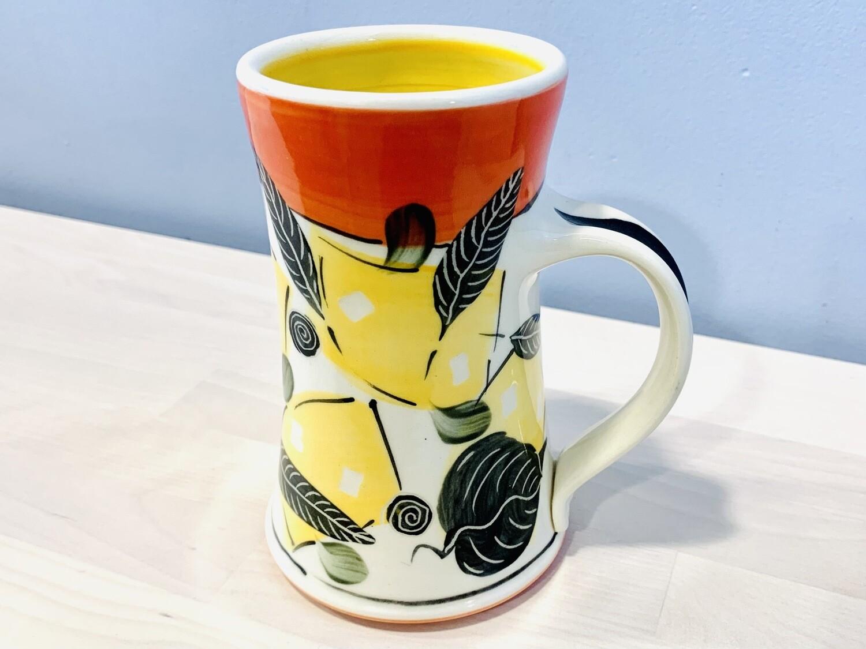 Orange Mug, Yellow Inside - Keffer