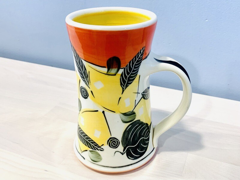Orange Mug, Yellow Inside - Keffer