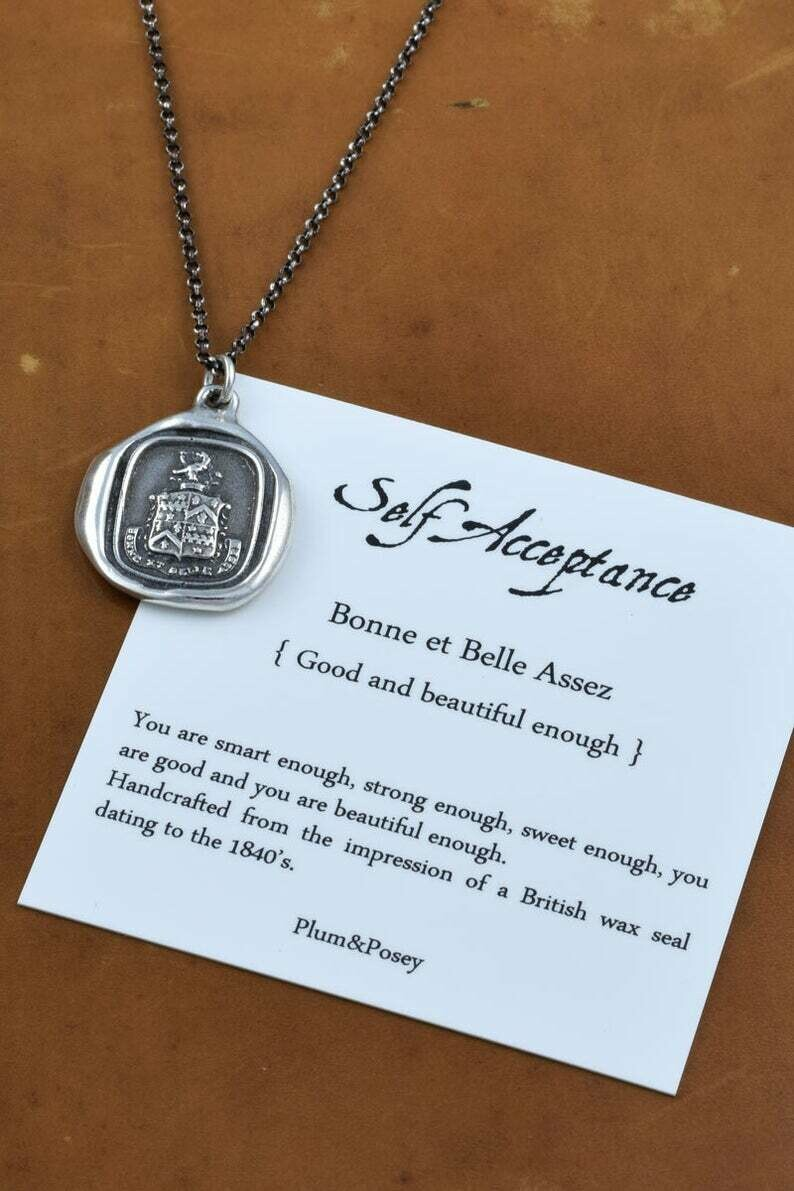 214-Self Acceptance Wax Seal Pendant