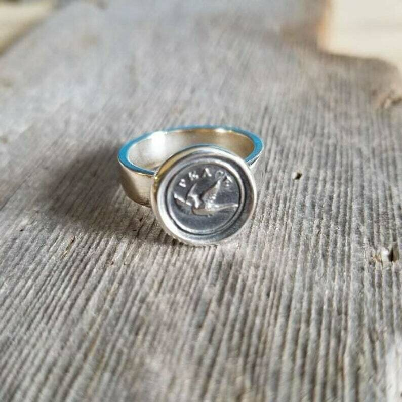 235-Dove Wax Seal Ring, Size 7.5