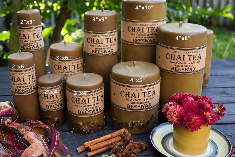 Chai Beeswax Candle 4x8