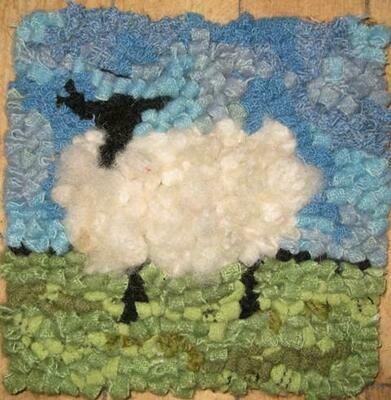 Rug Hooking Kit - Lost Sheep